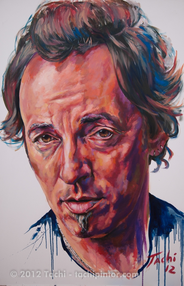 Bruce Springsteen by Tachi - © Tachipintor.com
