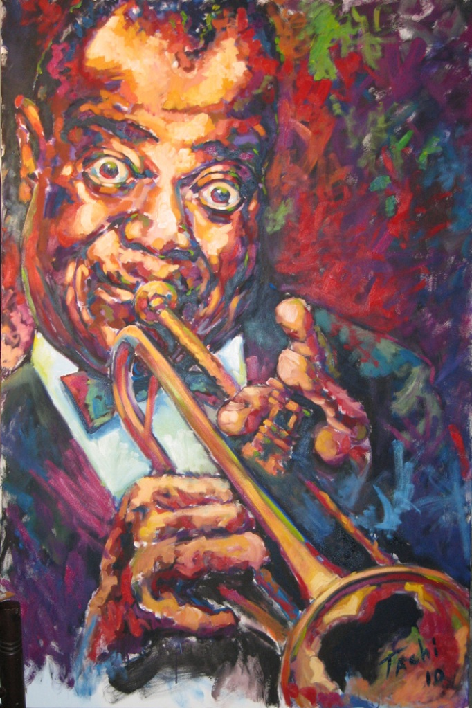 Louis Armstrong by Tachi - © www.tachipintor.com