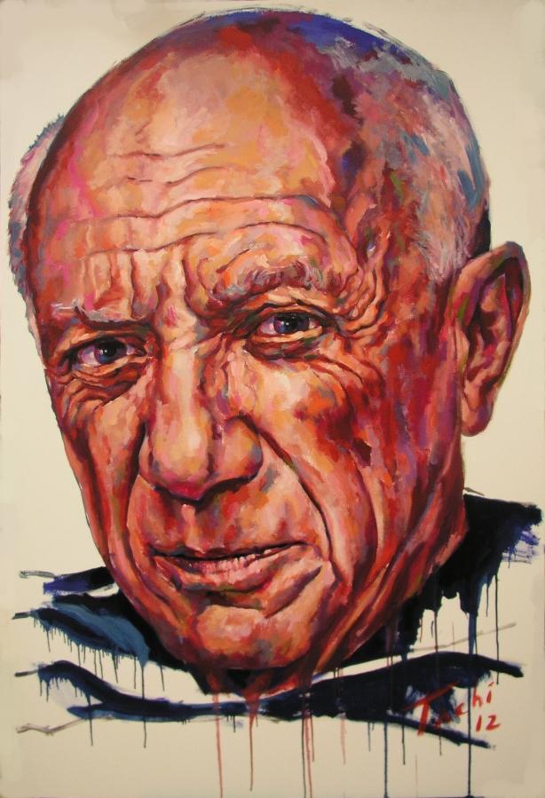Pablo Picasso by Tachi - © www.tachipintor.com