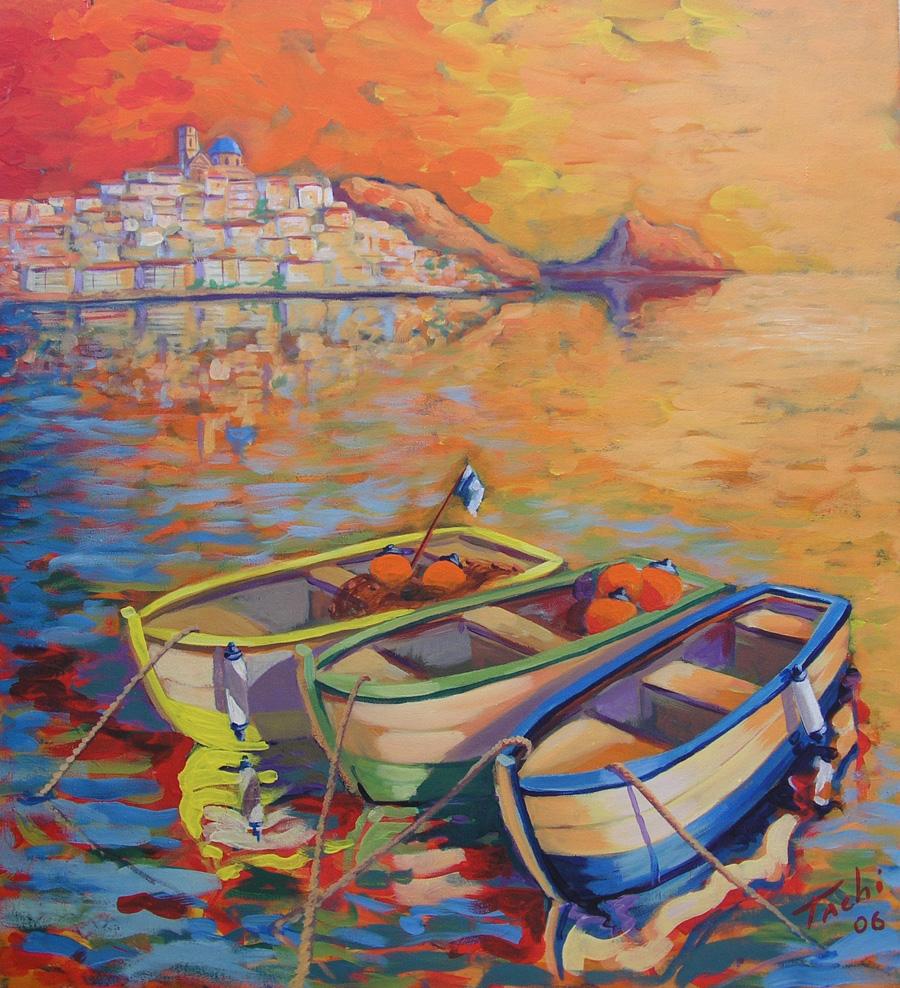 Tres barcas by Tachi - © www.tachipintor.com