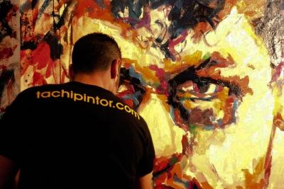 Tachi - Live Painting - 2 Boxeadores / 2 Boxers