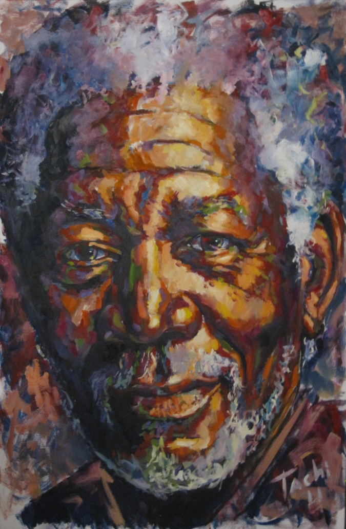 Morgan Freeman by Tachi - © www.tachipintor.com