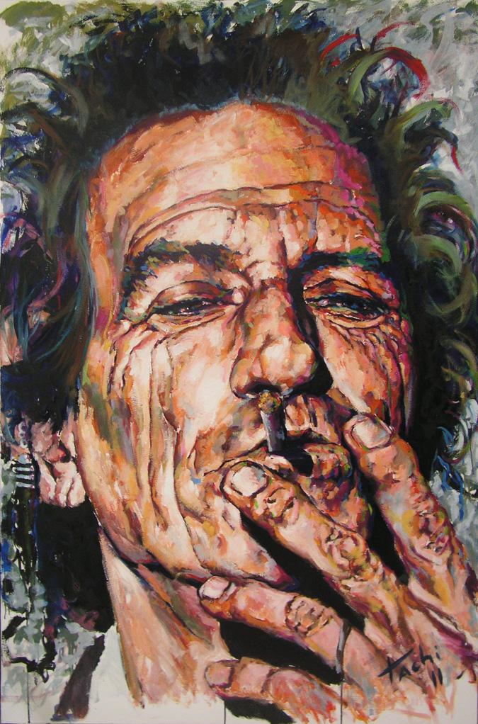 Keith Richards by Tachi - © www.tachipintor.com