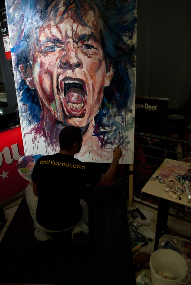 Tachi y Mick Jagger - 27-10-2011