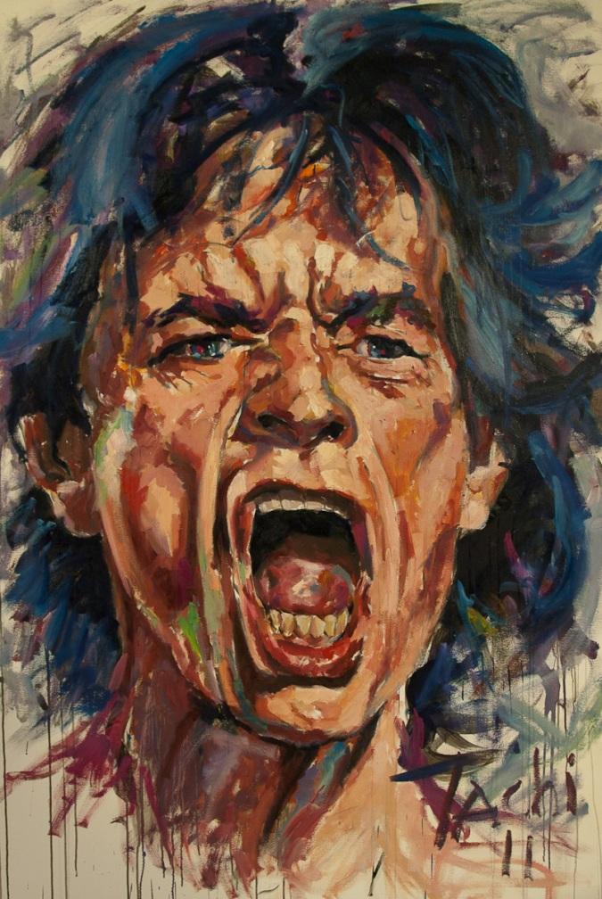 Mick Jagger by Tachi - © www.tachipintor.com