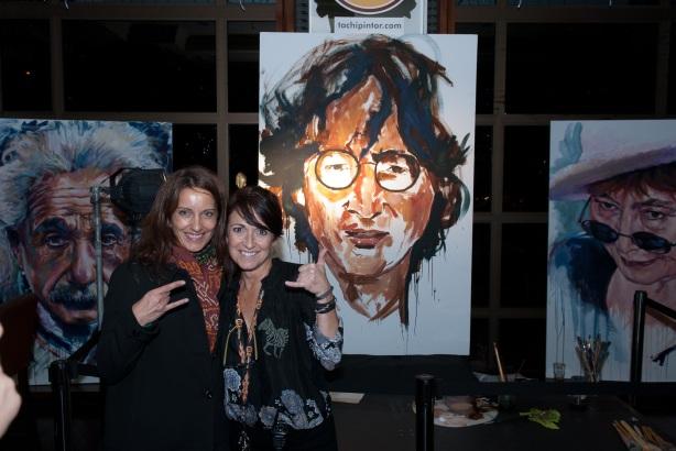 Tachi Pinta a John Lennon en Hard Rock Cafe Madrid-12