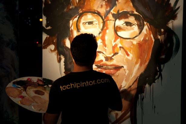 Tachi Pinta a John Lennon en Hard Rock Cafe Madrid-18