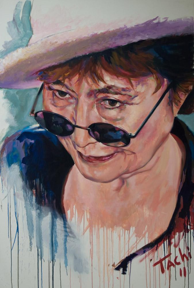 Yoko Ono by Tachi - © www.tachipintor.com