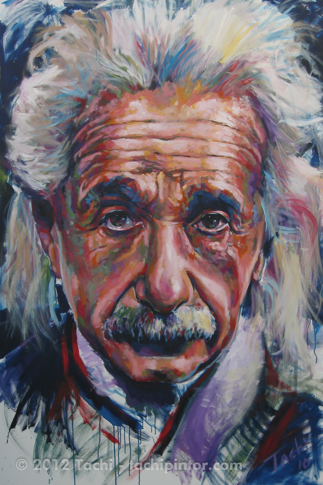 Albert Einstein by Tachi - © www.tachipintor.com