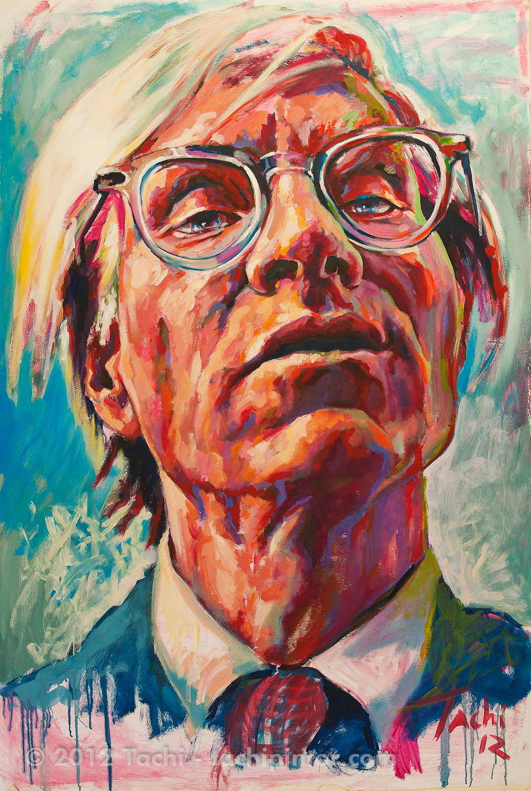 Andy Warhol by Tachi - © www.tachipintor.com