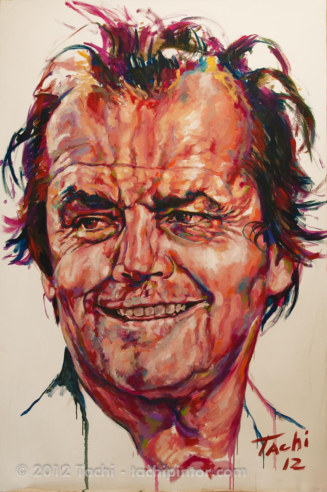 Jack Nicholson by Tachi - © www.tachipintor.com