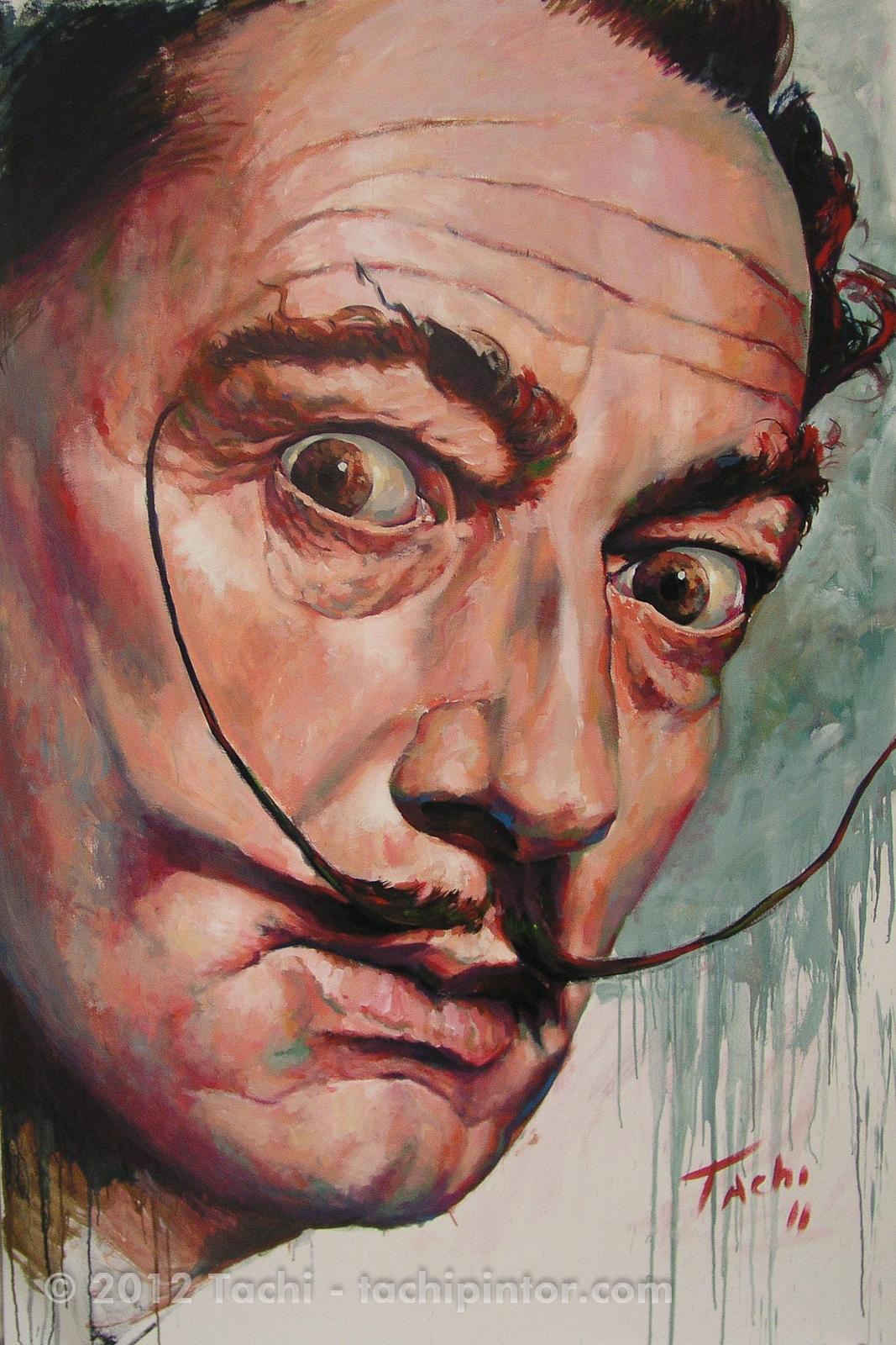 Salvador Dalí by Tachi - © www.tachipintor.com