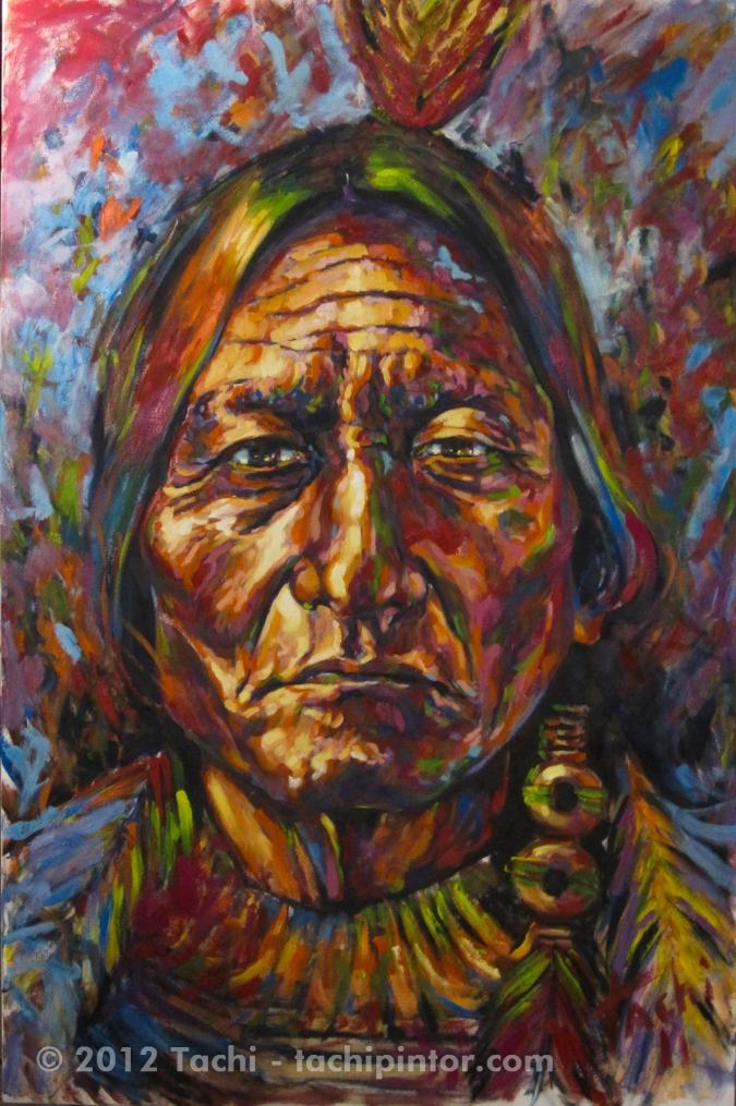 Toro Sentado – Sitting Bull by Tachi - © www.tachipintor.com