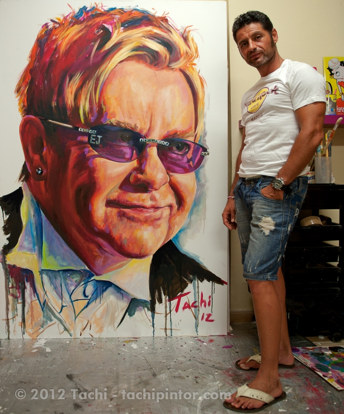 Elton John and Tachi