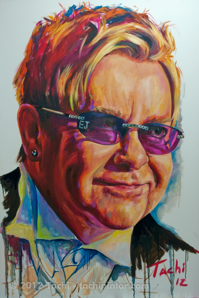 Elton John by Tachi - © Tachipintor.com