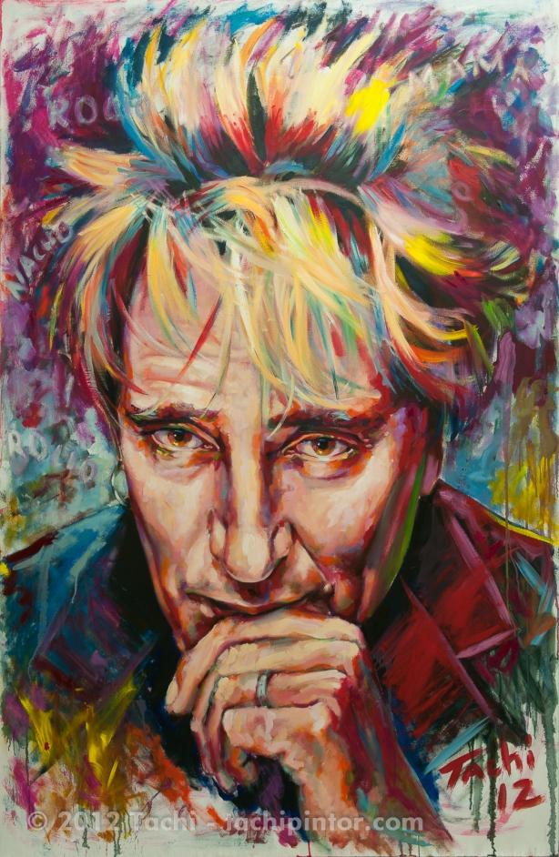 Rod Stewart by Tachi - Tachipintor.com