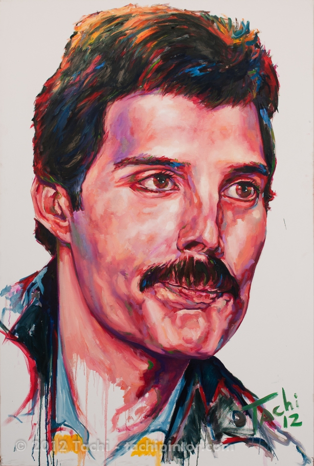 Freddie Mercury by Tachi