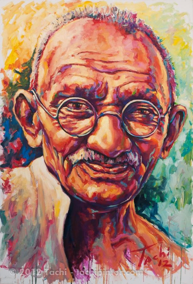 Gandhi by Tachi